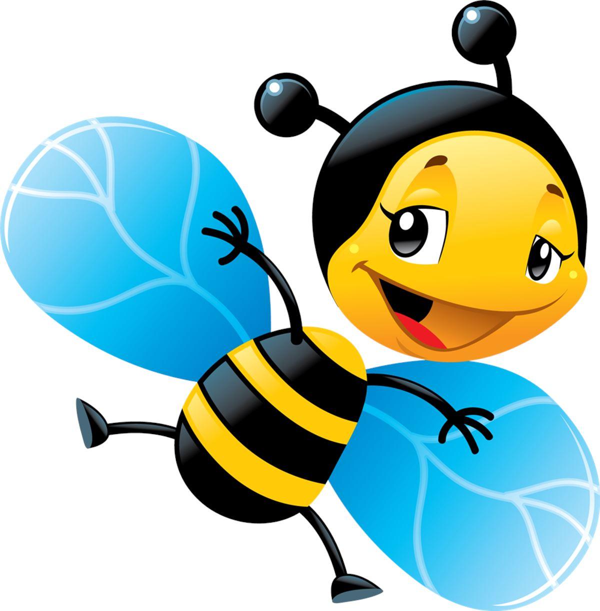 Adesivi murali ape col sorriso leostickers for Immagini api per bambini